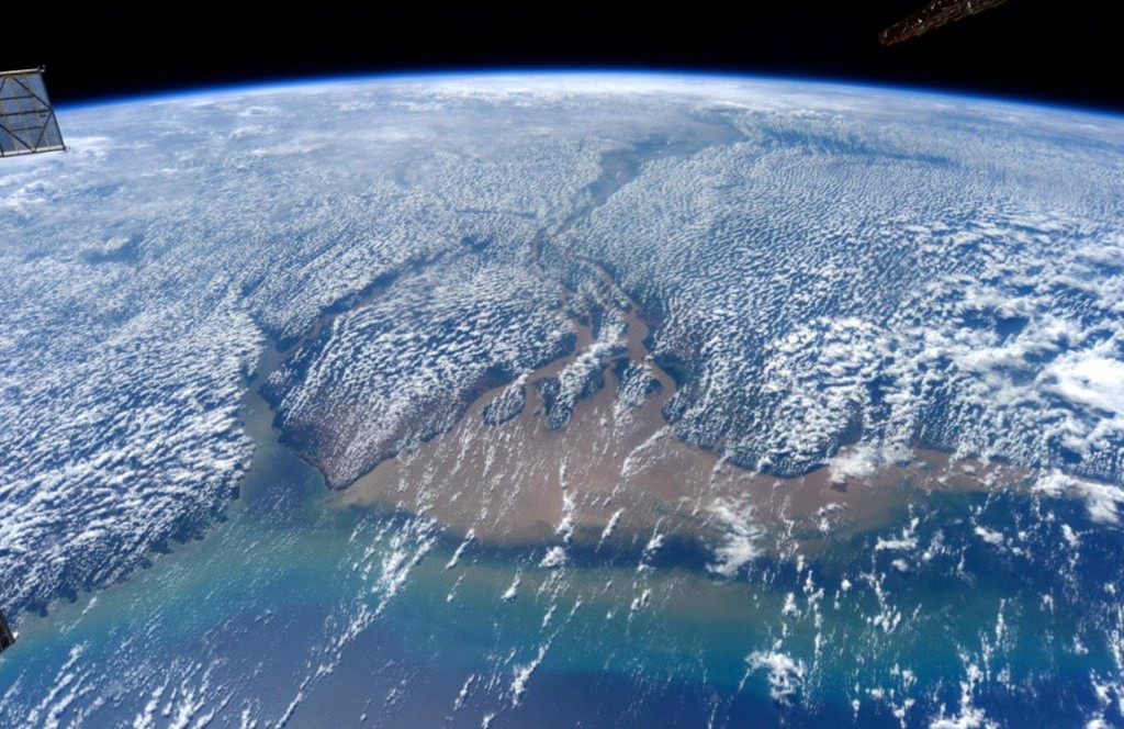 Marijo Island as seen from the International space station