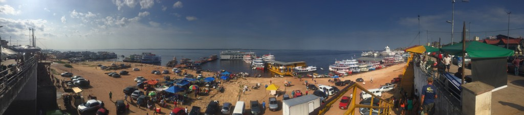Panoramic view of Manaus port